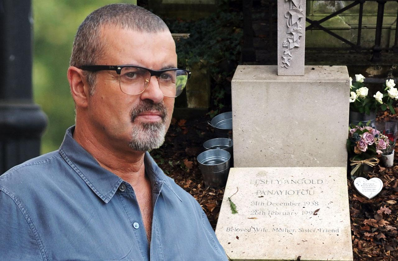 //george michael gravestone neglected tragic insult death pp