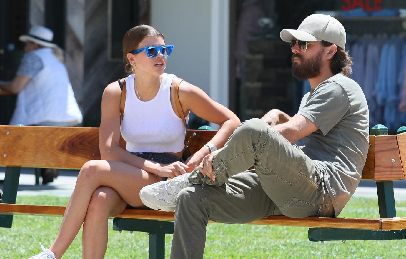 Scott Disick Sofia Richie Hang Out In Malibu