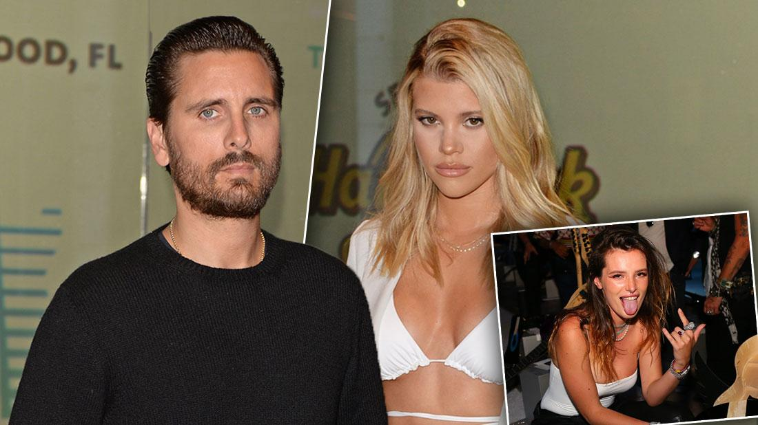 Scott Disick Parties With Sofia Richie, Ex Bella Thorne, & Khloe