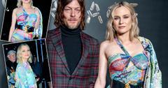 Norman Reedus Diane Kruger Post Baby Body Versace 2019 Show