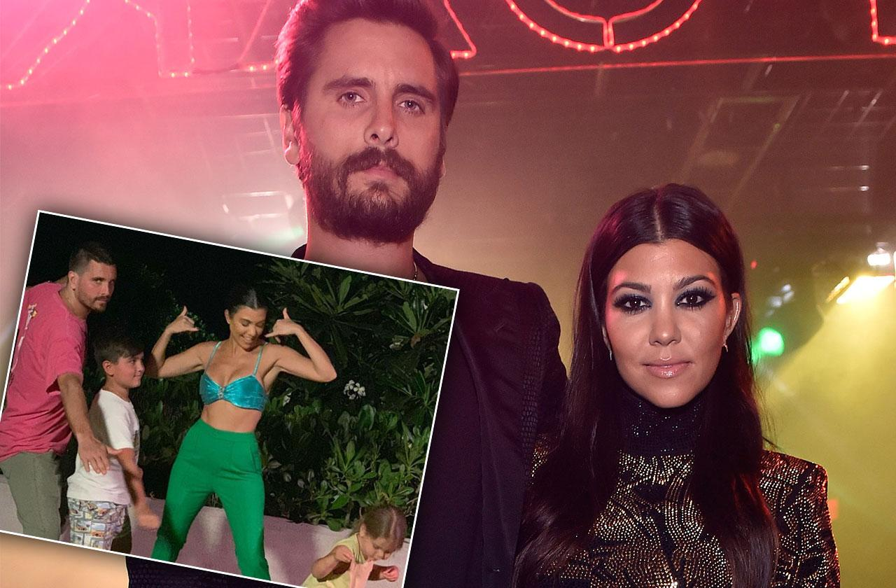 Kourtney Kardashian Scott Disick Sons Photo