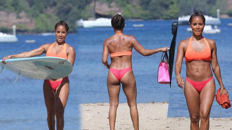 //jada pinkett smith bikini hawaii will smith divorce reports pp