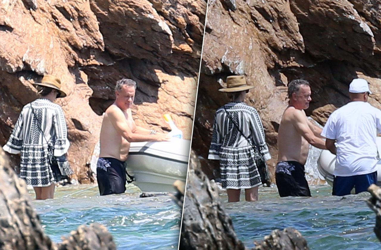 Tom Hanks Shirtless Wife Vacation Greece