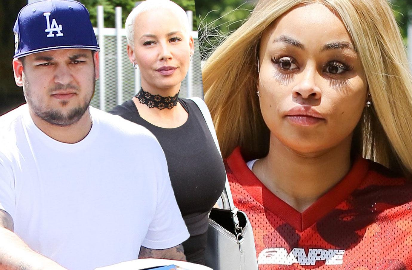 Blac Chyna Feud Amber Rose Disapproves Of Her Rob Kardashian Battle