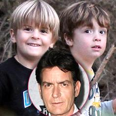 //charlie sheen brooke mueller twins bob max foster care sq