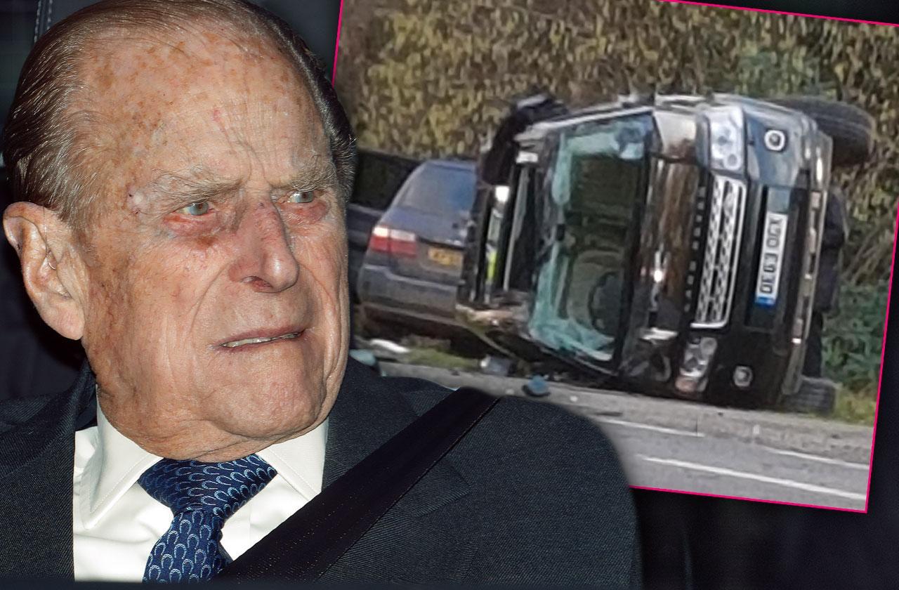 Prince Philip Shocked Disoriented Car Crash