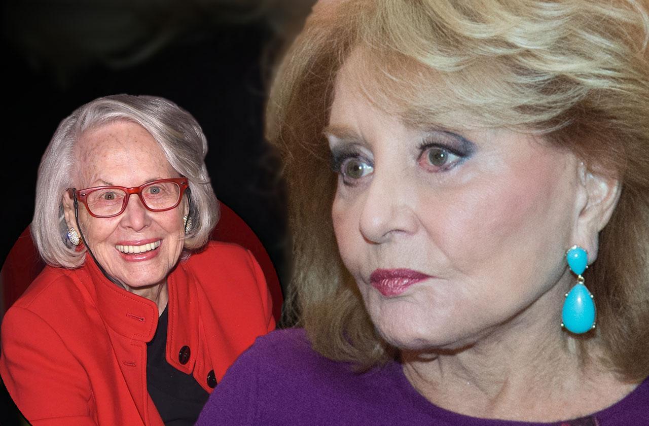 //Barbara walters misses friend memorial service pp