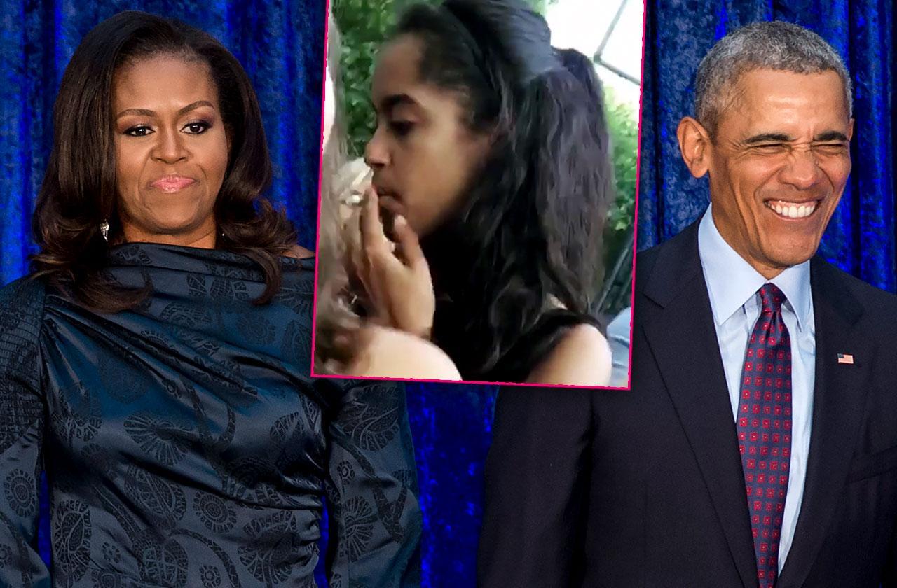 Michelle Barack Malia Obama Smoked Pot