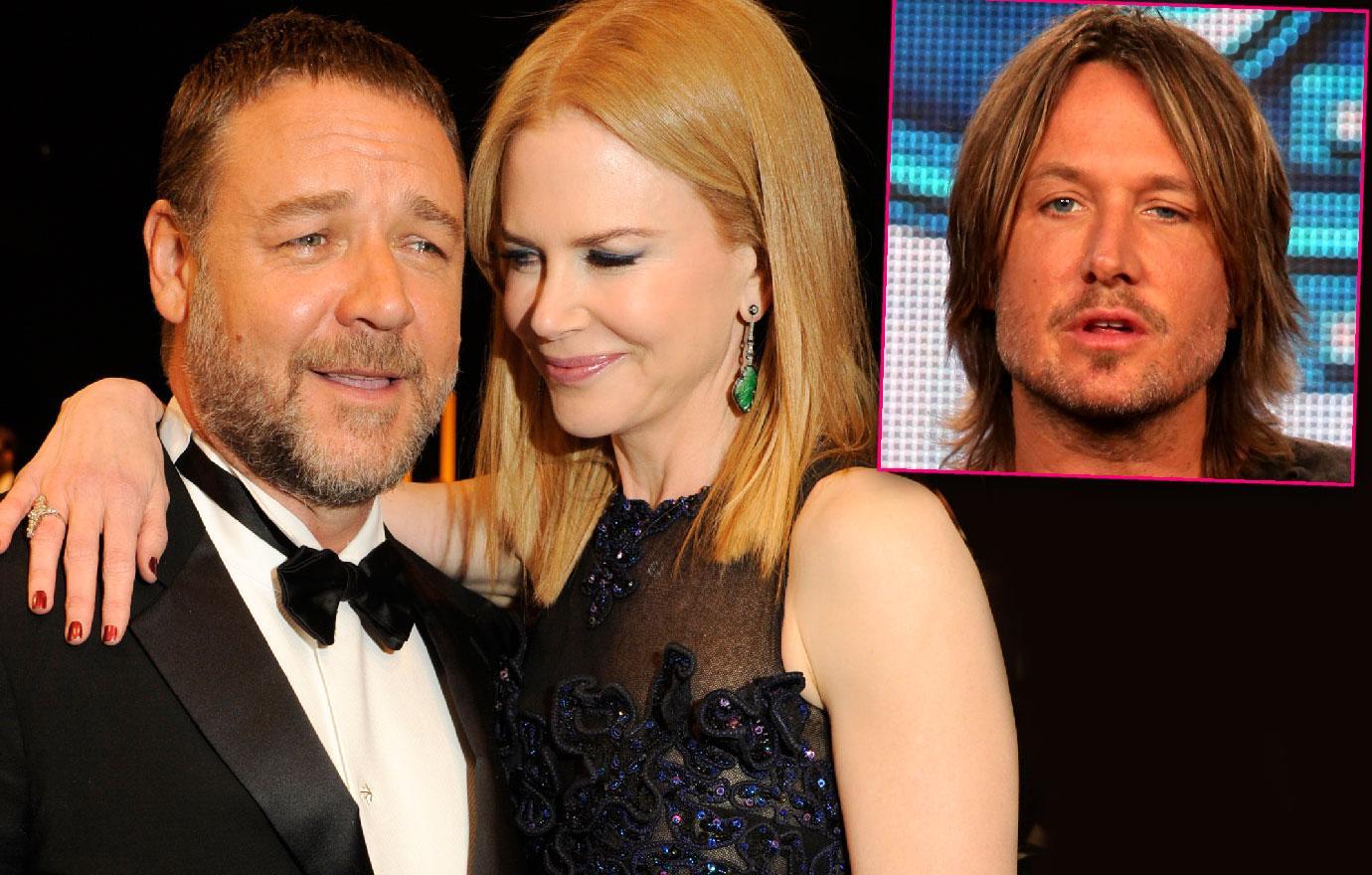 Russell Crowe & Nicole Kidman Flirtation Keith Urban Marriage