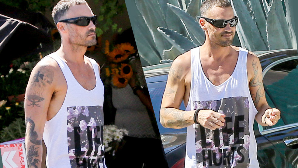 //brian austin green sportted solo after megan fox divorce filing