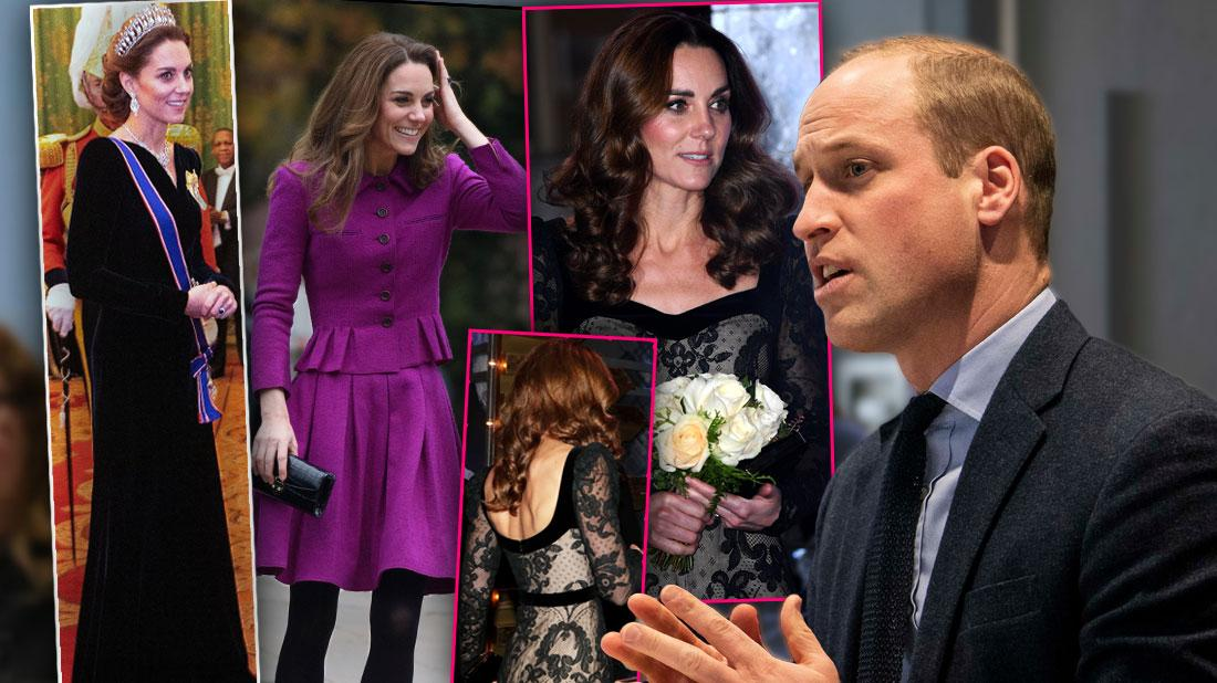 4 Insets of Kate looking very slim, Prince William Worried About Kate's Plunging Weight Amid Royal Shakeup