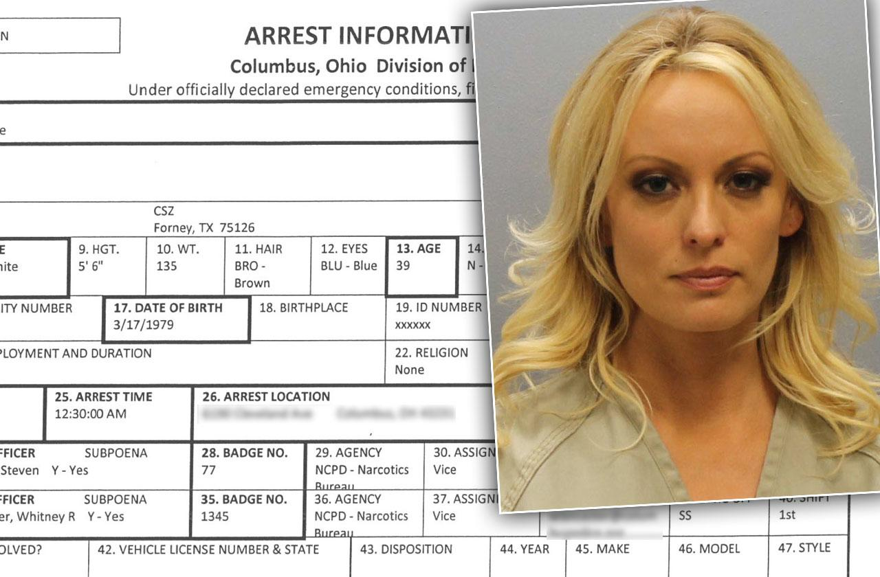 Stormy Daniels Strip Club Arrest Police Report