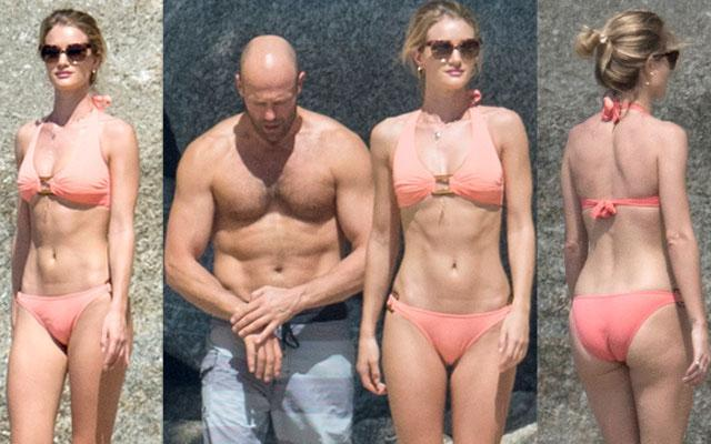 Rosie Huntington Whiteley Bikini Photos With Shirtless JasonStatham