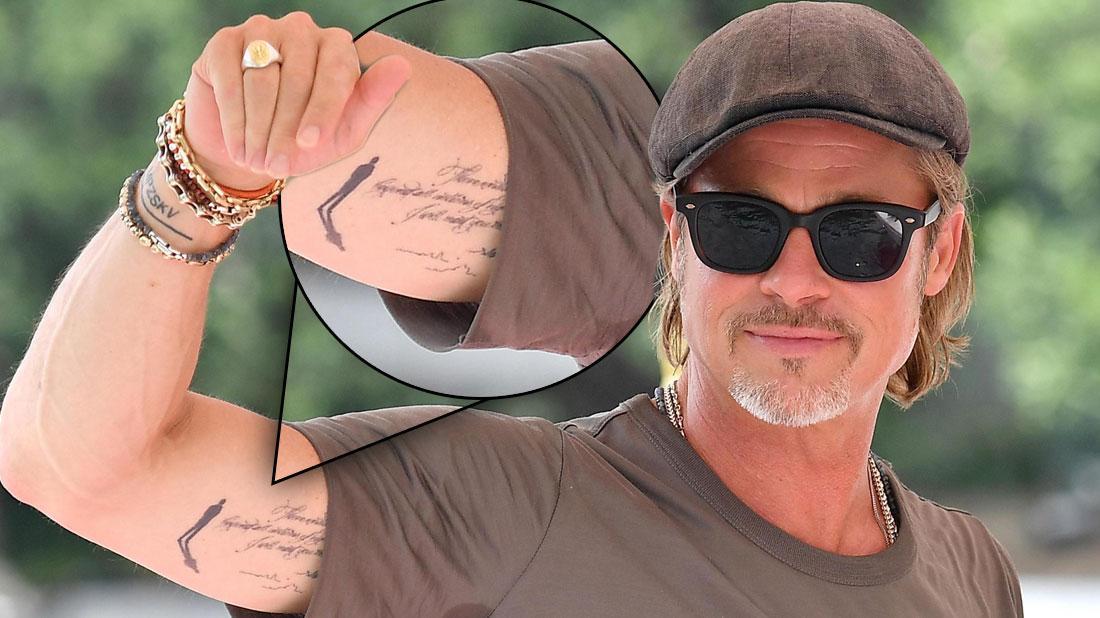 Brad Pitt Shows Off New Tattoo Next To Angelina Jolie Ink