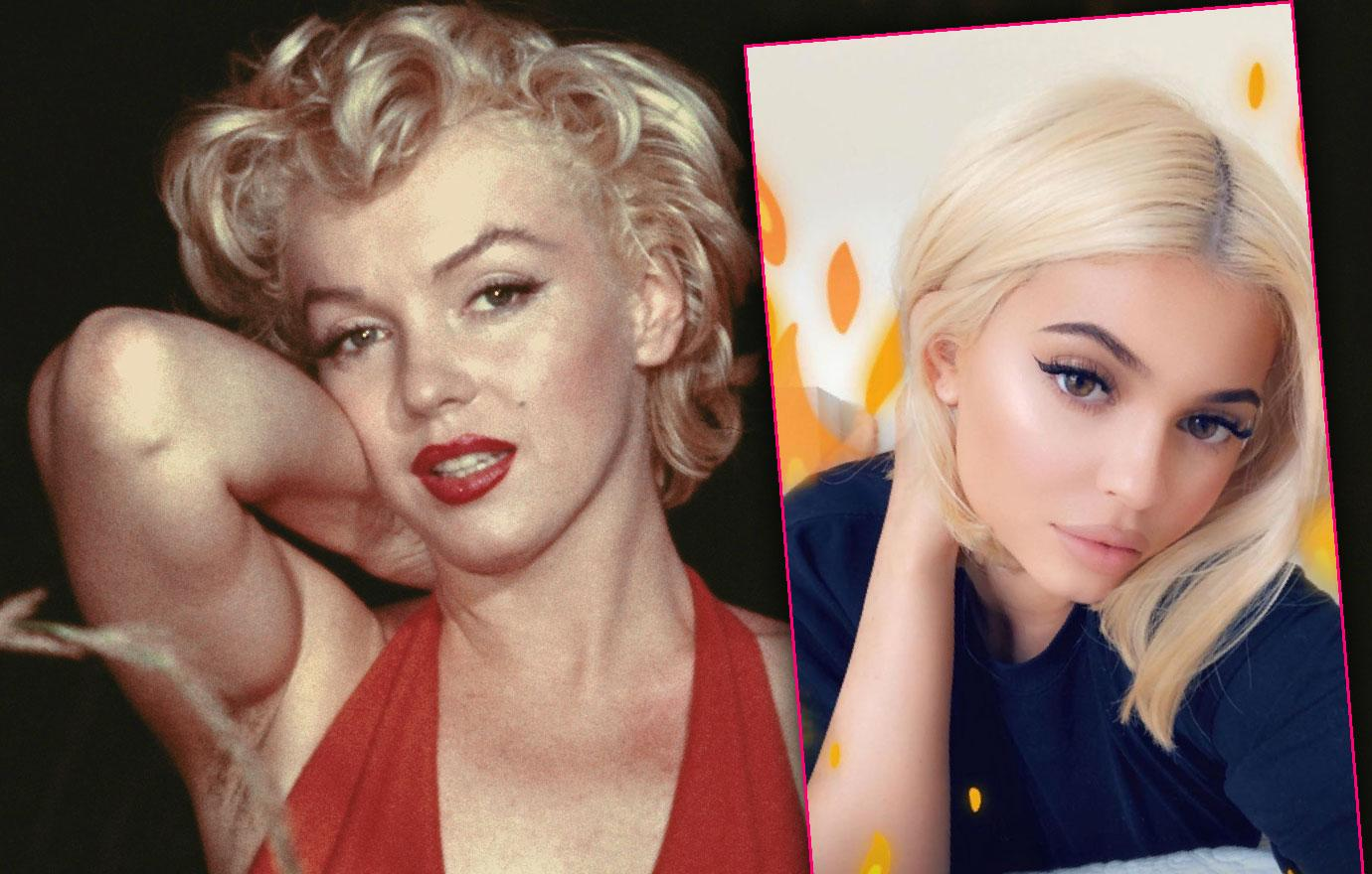 Kylie Jenner Channels Marilyn Monroe With Blonde Hair