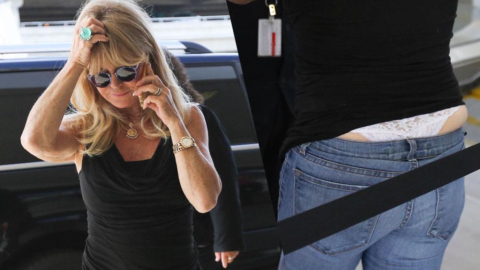 Goldie Hawn Wardrobe Malfunction Thong