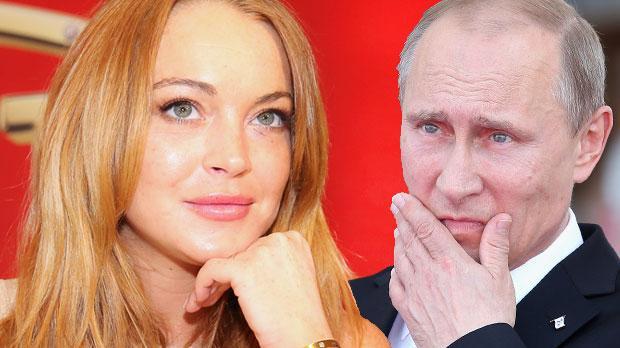 lindsay lohan russian tv demands meet vladmir putin