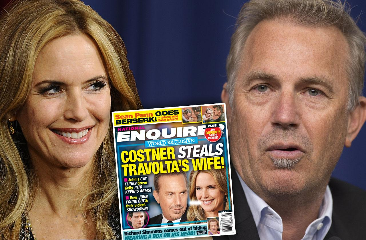 kelly preston cheating john travolta kevin costner