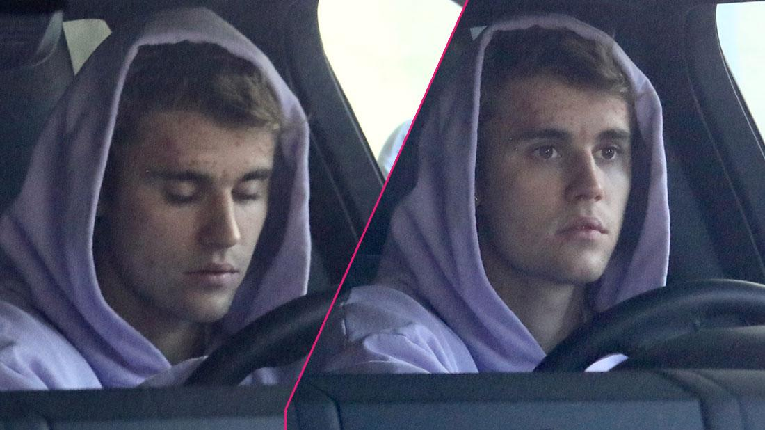 Justin Bieber looks downcast after long doctor appointment with Hailey as the young pop star continues his reported battle with depression.