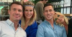 Jeff Lewis grabs a bite to eat with his boyfriend and friends.