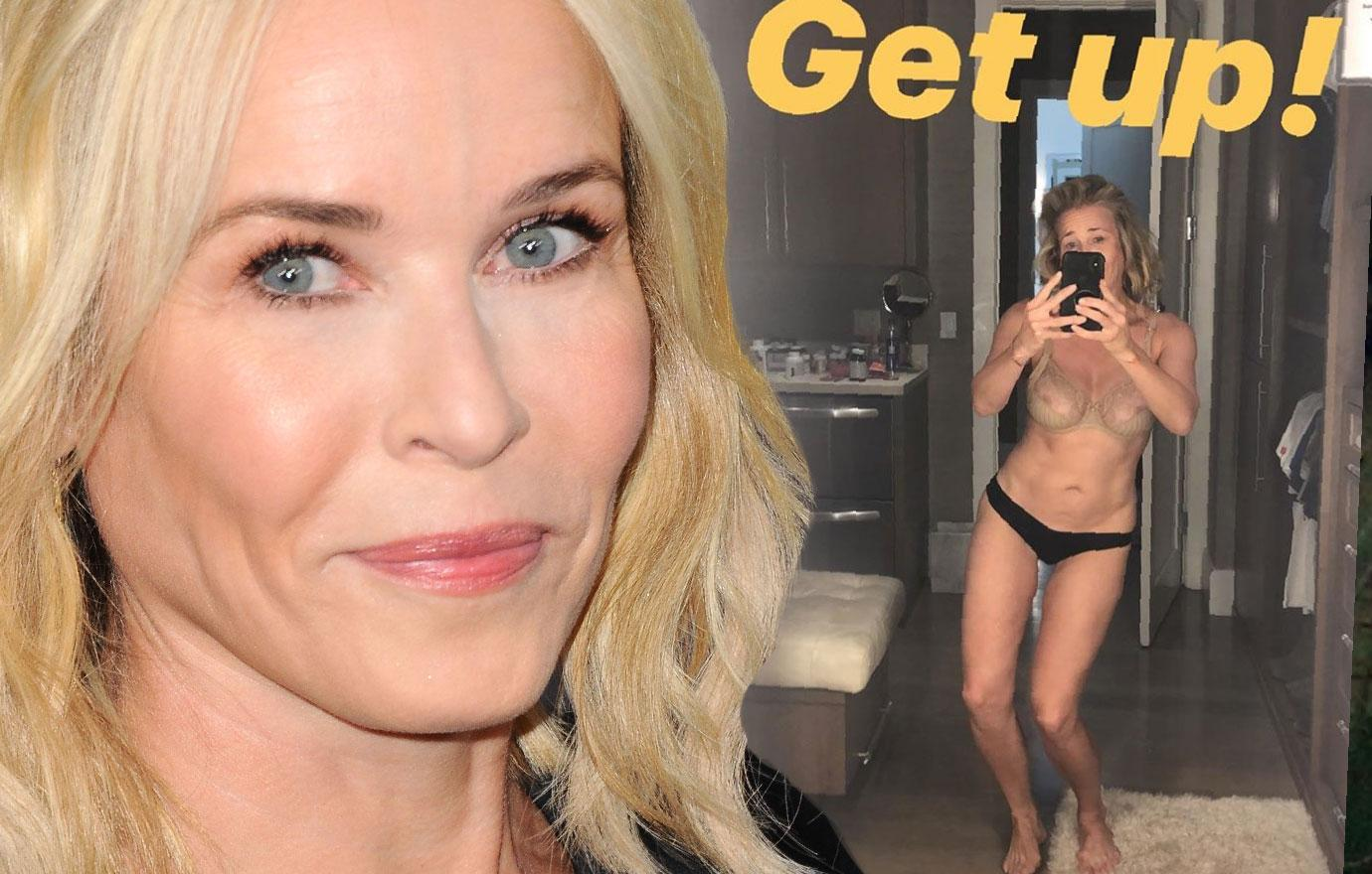 Chelsea Handler Wears Panties And Bra In Selfie