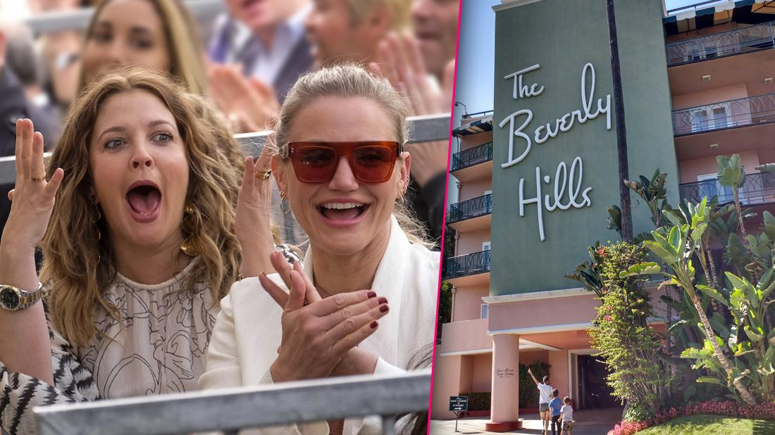 Cameron Diaz & Drew Barrymore Celebrate With Champagne