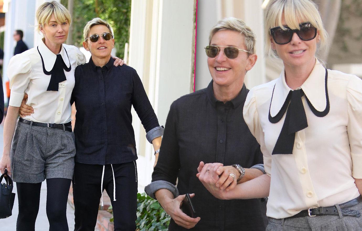 Ellen Degeneres Portia De Rossi Step Out Vow Renewal Soon