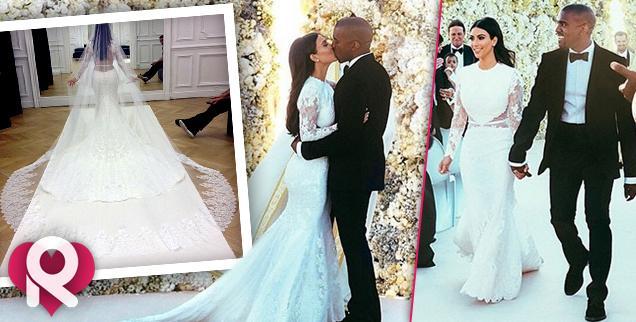 //kim kardashian kanye west wedding photos  wide