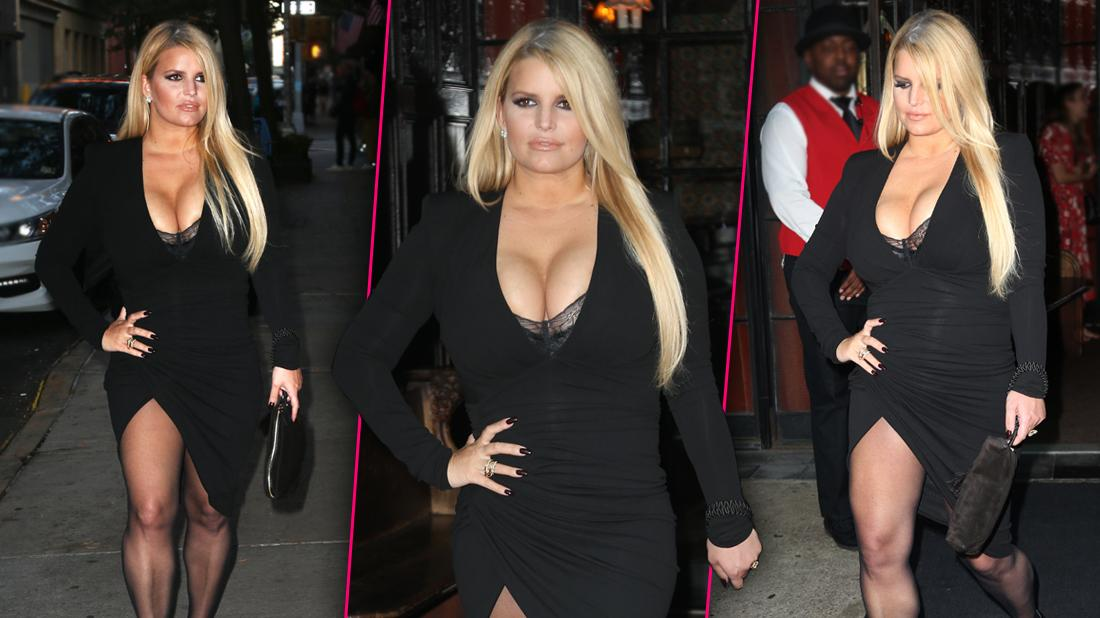 Jessica Simpson Flaunts Body In Busty Dress After Losing 100 Pounds