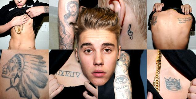 //miami cops release justin bieber tattoo muscle photos inside jail  wide