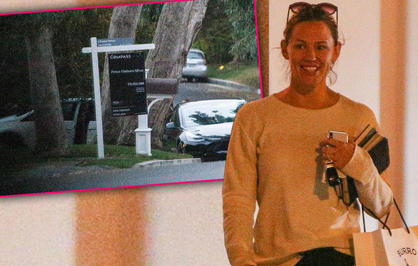 Jennifer Garner Looks At New Home Spends Time With Friends