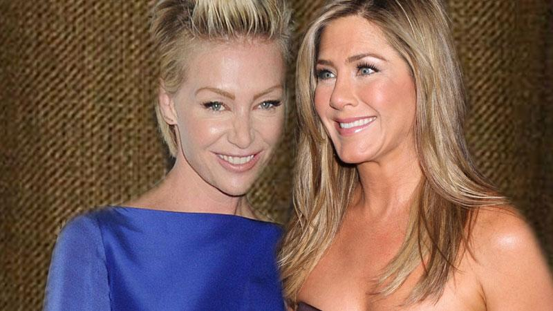 //jennifer aniston and portia pp