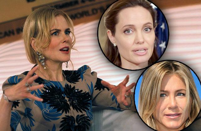 Jennifer Aniston Nicole Kidman Feud Angelina Jolie