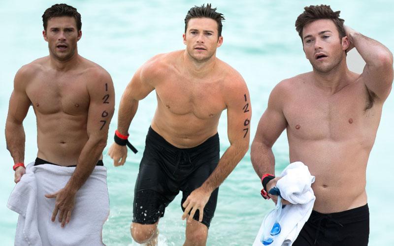 Scott Eastwood Shirtless Photos Miami Triathlon