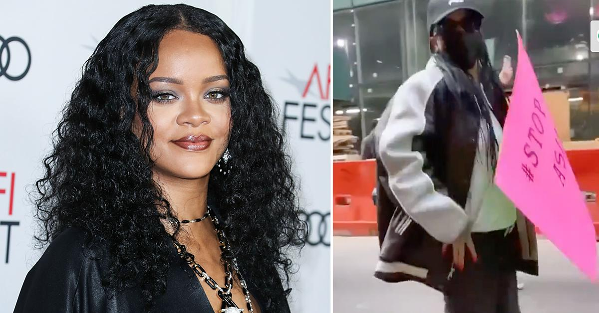 rihanna stop asian hate rally nyc videos
