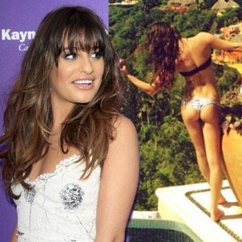 Lea Michele takes a break in Mexico