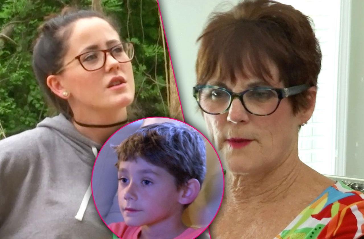 //jenelle evans son jace family feud pp