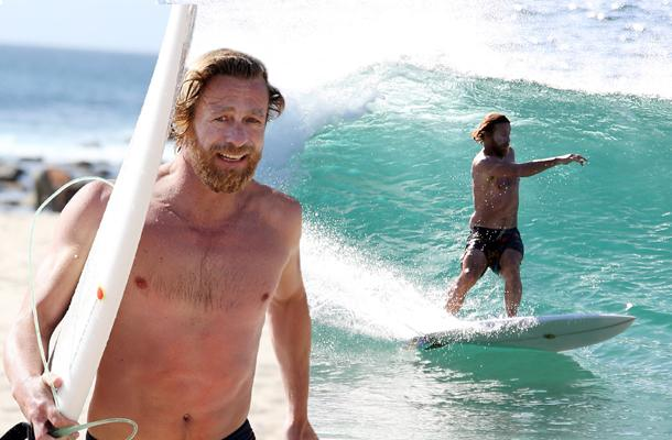 //simon baker shirtless weight surfing pp
