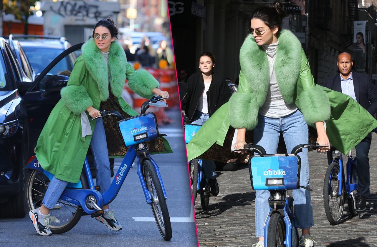 Kendall Jenner Rides Citi Bike In New York