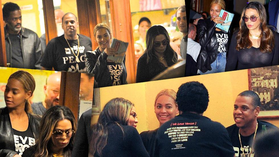 Jay-Z And Beyonce Dine With Tina Knowles and Richard Lawson