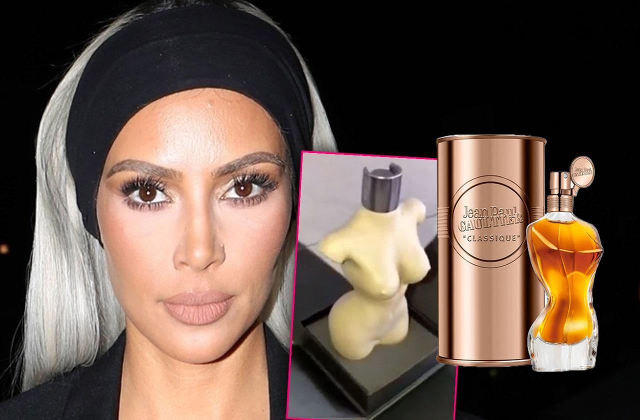 Kim Kardashian Naked Perfume Bottle Dissed Designer Jean Paul Gaulter