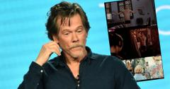Kevin Bacon Showtime 'City on a Hill' TV Show Panel. Inset, naked co-stars.