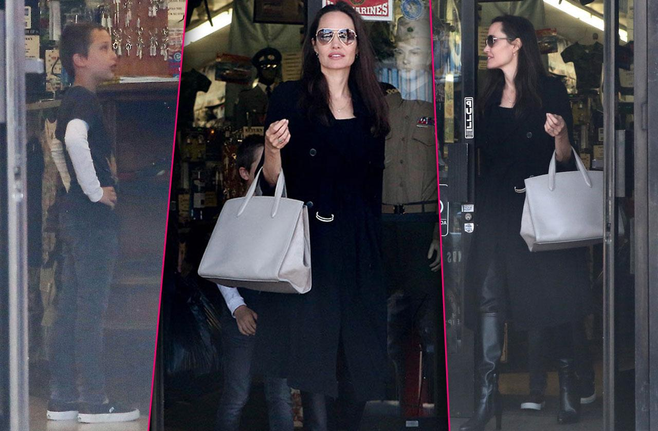 Angelina jolie hollywood shopping spree with knox