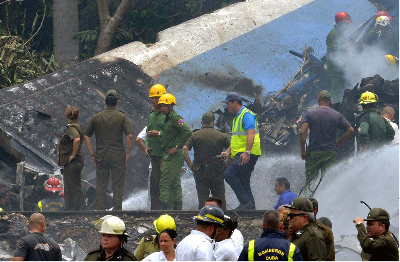 //over one hundred dead in cuban jet crash PP