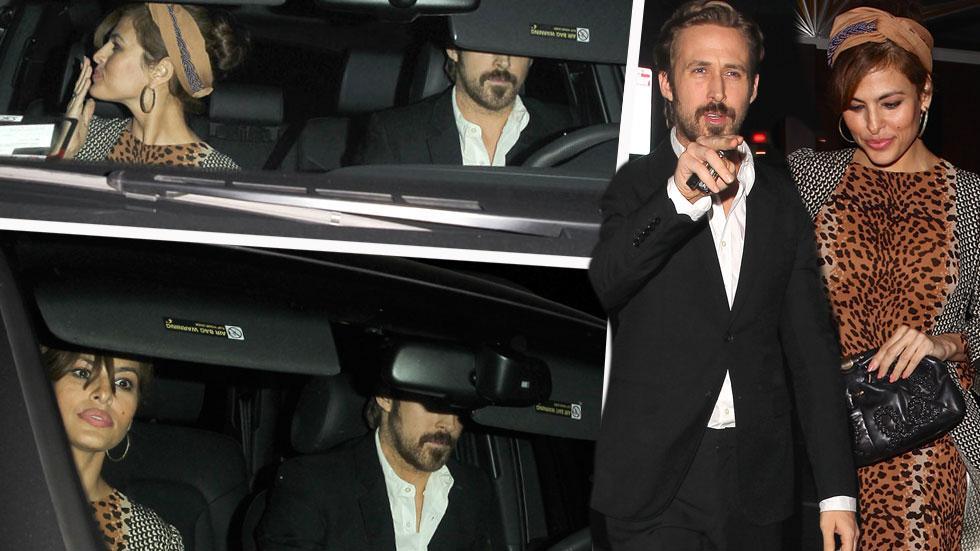 Eva Mendes & Ryan Gosling Have A Date Night