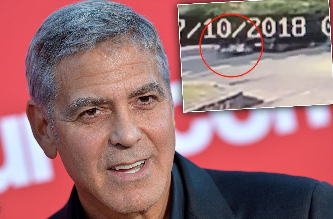 George Clooney Car Crash Video