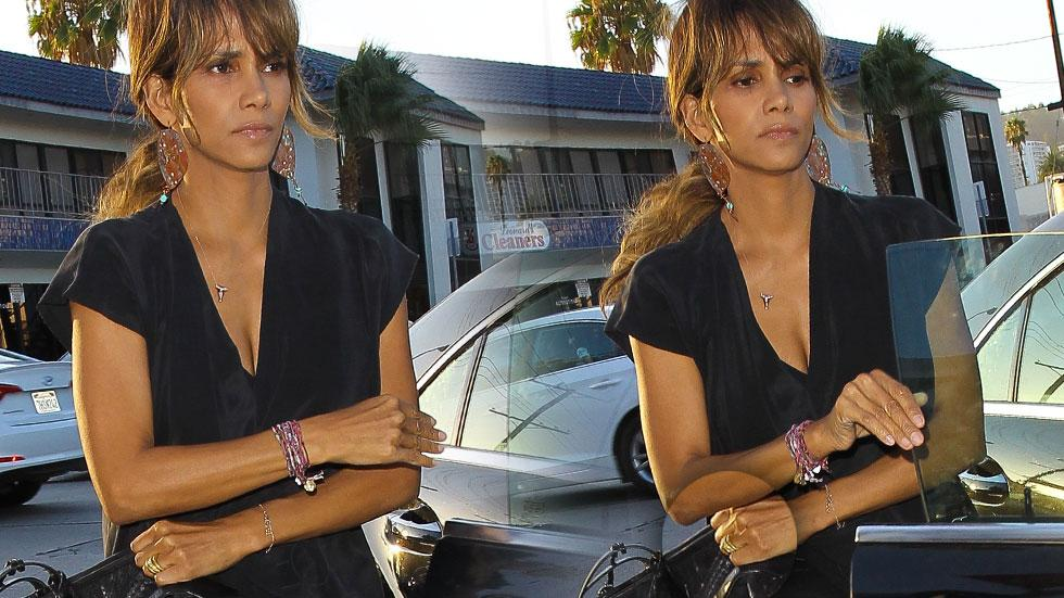 Somber Halle Berry Wears Her Wedding Ring To Dinner