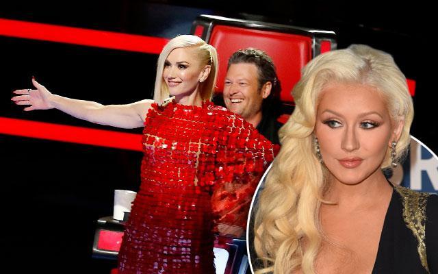 The Voice Christina Aguilera Blake Shelton Gwen Stefani Feud