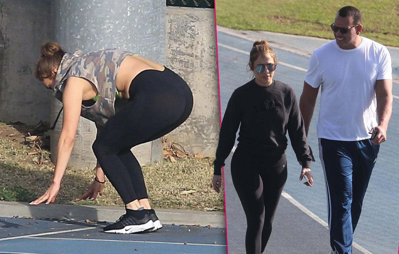 Jennifer Lopez And Alex Rodriguez Keep Fit Together