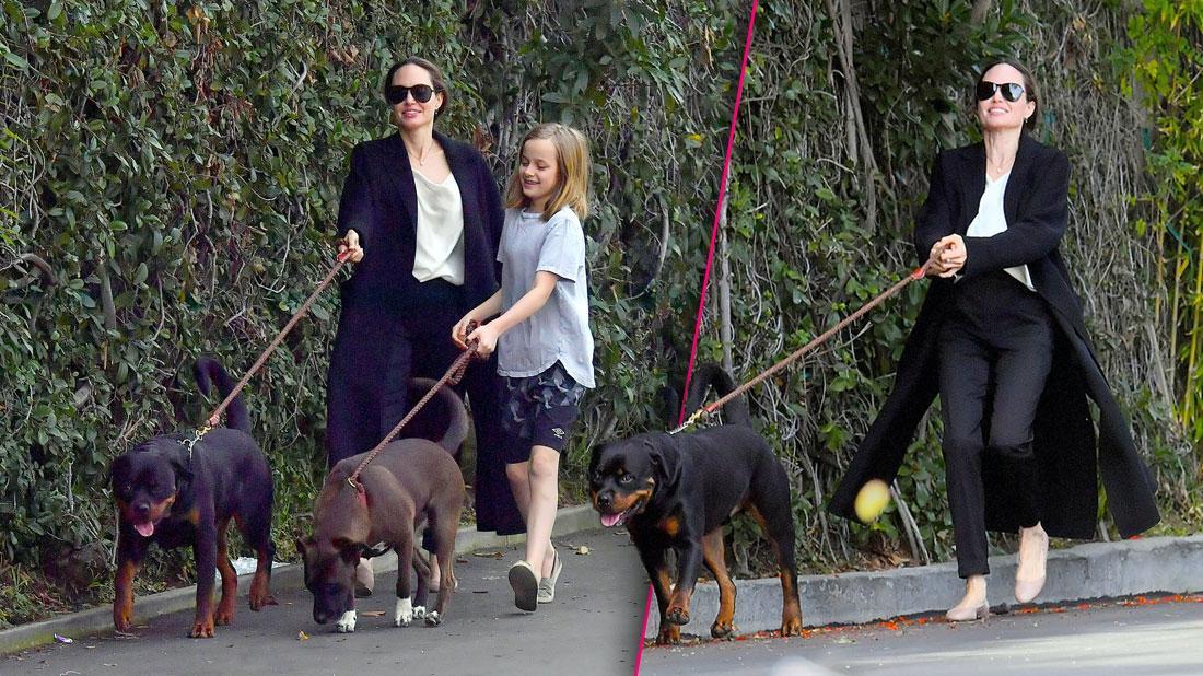 Angelina Jolie & Vivienne In LA After Brad Pitt Golden Globes Snub